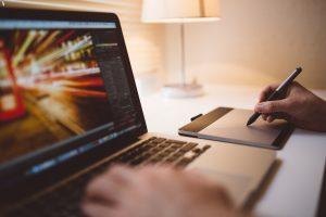 Designing on Laptop