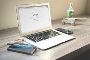 macbook with google