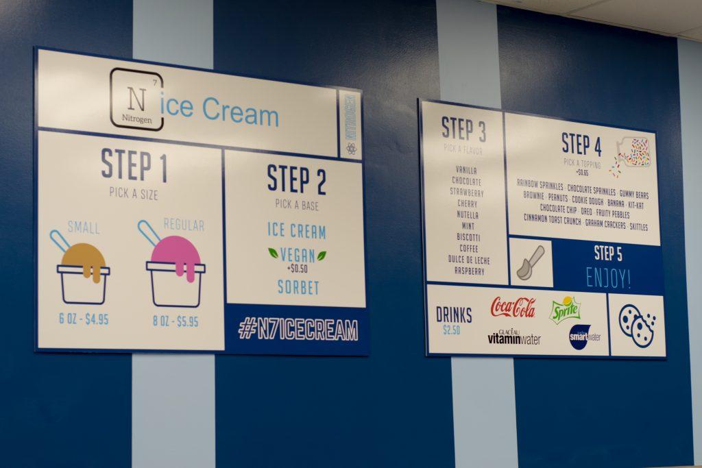 N7ice Cream Board Menu